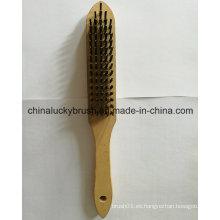 5X16 fila de alambre de acero alambre de madera cepillo (YY-640)