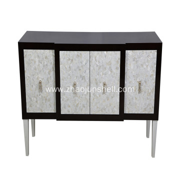 Good Quality for Mother of Pearl Furniture, Mother of Pearl Furniture direct from Jiujiang Tengjun Shell Arts and Crafts factory in China (Mainland) CANOSA High Quality Factory Price Chinese Freshwater Shell Inlaid Wooden Storage Cabinet export to New Zea