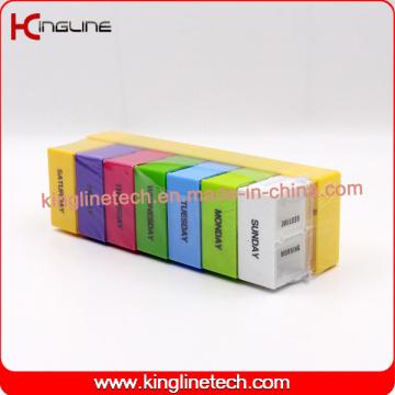 Nouvelle conception boîte à pilules en plastique avec 28cases (KL-92801F)