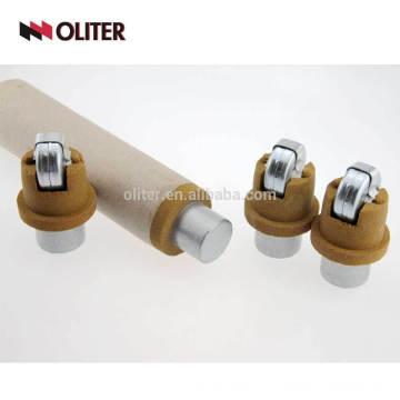 Immersion disposable steel liquid aluminum sampler for chemical analysis cast foundry instrument molten steel sampler