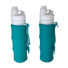 FDA Approved 500ml Collapsible Silicone Water Bottle