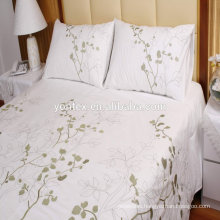High quality 100% cotton Flower Embroidery Bedding Sets