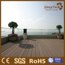 WPC Green Wood Terrace Decking, Composite Wood Plank for Roof Balcony.