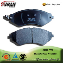 Semi-metallic brake pad for Chevrolet Aveo Front 2004