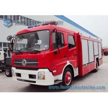 Camion de lutte contre l'incendie de réservoir d'eau et de réservoir de mousse de Dongfeng 6cbm 4X2