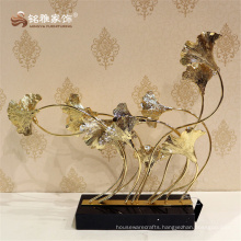 Flowers group in metal table statue carving flower