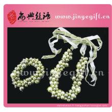 Elégant Demoiselle d'honneur Chunky Collier de perles Bracelet Accessoires de mode