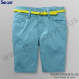 Lady Holiday Relaxed Beach Shorts Colored Short Denim Pants