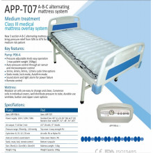 high class ICU hospital alternating air mattress with pump T07