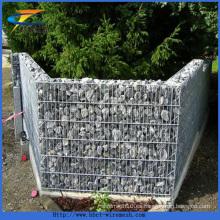 Rígido de calidad Reno colchón de la cesta cuadrada Gabion caja de soldadura