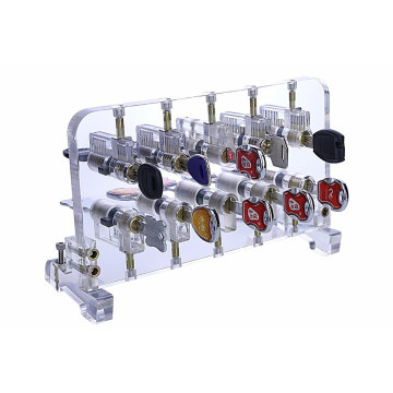 Transparent Practice Mortise Cylinder Locks Display Stand for Locksmith Training