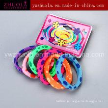 Faixa de cabelo impresso colorido para mulheres