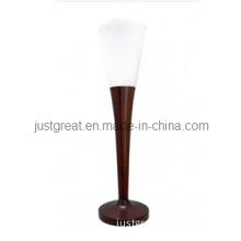 Modern Glass Bedside Lamp with Walnut Wood Base for Decoration (JG-TL011)