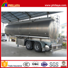 2axles 35000liters Oil Tanker Aluminum Alloy Fuel Tank Semi Trailer