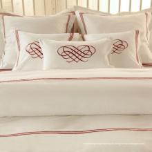 100% Baumwolle oder T / C 50/50 / Embroidery Hotel / Home Bettwäsche Set (WS-2016048)