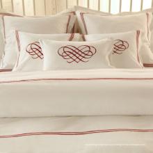 100% Algodão ou T / C 50/50 / Bordados Hotel / Home Bedding Set (WS-2016048)