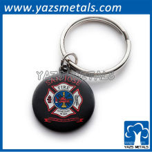 kundenspezifische Metallversprechung keychains wiith sam jose Feuer keychains