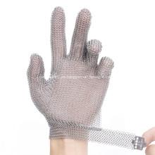 Guante de malla de carnicero protector de 5 dedos