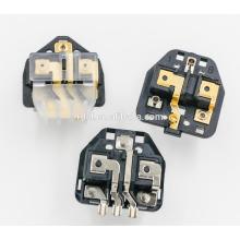 uk -009 16A plug uk Insere preto com ROHS nós podemos fornecer amostras grátis