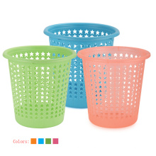 Plastic Star Design Hollow Cubierta de basura abierta superior