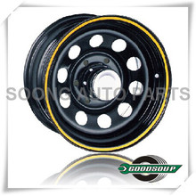 "Modular-Non Beadlock Wheels GS-30102 Steel Wheel from 15"" to 17"" with different PCD, Offset and Vent hole"