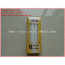 Weiße Kerze im Kasten mit Schrumpffolie-35g-40g