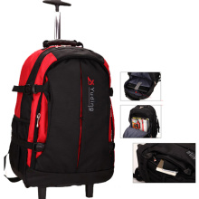 Mochila impermeável com carrinho para laptop, viajando