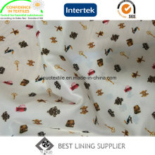 Lady′s Garment Print Liner Lining Fabric China Supplier