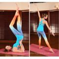 China Buen precio 180GSM el 85% poliéster el 15% de la sublimación de Womans del desgaste del entrenamiento de encargo de la yoga calza con la certificación del ISO