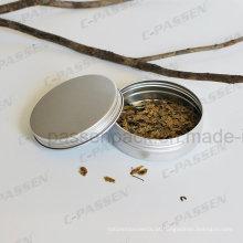 Lata de lata de alumínio do chá do produto comestível 150g