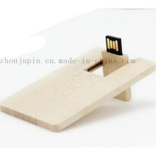 Palillo de memoria USB de madera del OEM Flash Drive para el regalo promocional