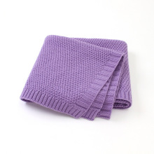 organice warp knitted ruffled edge organic knit knitted baby blanket