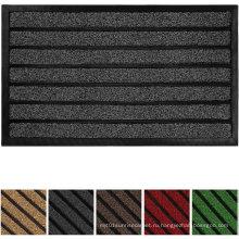 Оригинальный прочный полосатый дверной коврик, в помещении и на улице, легко чистится, сверхмощный дверной коврик, 29X17, полосатый шоколад