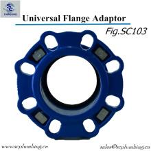 O adaptador dútile da flange da vasta gama do ferro para a tubulação do PE