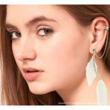 New Arrival Ear Cuff Natural Feather Earrings Jewelry Ear Clip FEA59