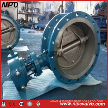 Cast Steel Flanged Double Eccentric Butterfly Valve