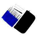 Blue Transparent Practice Padlock with Canvas Bag 15PCS Lockpicking Tools Blue Silicon Case (Combo 6-3)