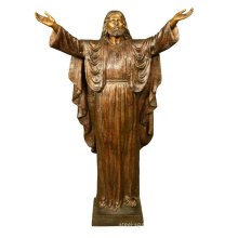 christian metal sculpture life size welcoming jesus garden bronze statue