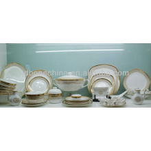 Utensilios de cocina inquebrantable duraderos ensaladera tazón de cerámica vajilla melamina hueso China cena