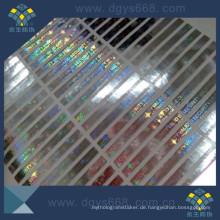 Individuelles Design Echte Hologramm-Label
