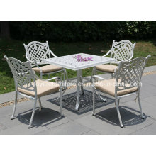 Top Sale Outdoor Leisure Furniture Conjunto de mesa de alumínio fundido (SD519; SZ214)
