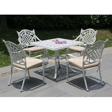 Top Sale Outdoor Leisure Furniture Ensemble de table en aluminium moulé (SD519; SZ214)