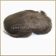 Perruque indienne de perruque de cheveux d'hommes bon marché pour les hommes noirs