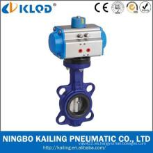 Accionador neumático válvula de mariposa NBR sello disco de hierro (KLAT-B-50)