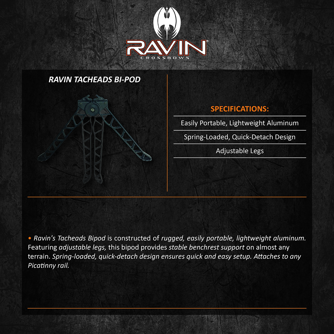 Ravin_Tacheads_BiPod_Product_Description