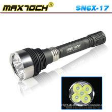 Maxtoch SN6X-17 5 * Cree 5000LM wiederaufladbare leistungsstarke LED-helle Taschenlampe