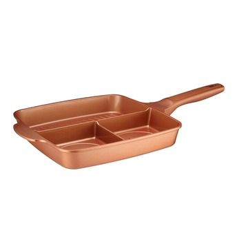 Die-Cast Aluminum 3 in 1 Fry Pan