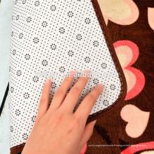 100% polyester microfibre vinyle revêtement de sol pvc mat lavable 100% polyester microfibre tapis de douche