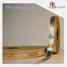 Custom Demetalized Holographic Hot Stamping Strip for Security Packaging