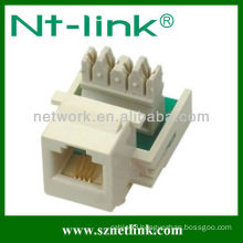 NT-K024A Cat3 UTP keystone jack right-angled 110 IDC connector Building structural wiring system